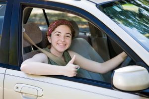 Student in car