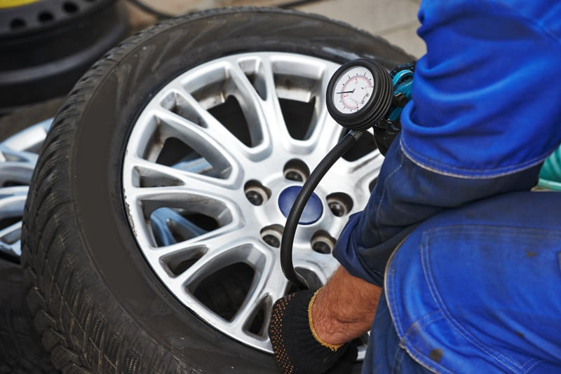 Tyre pressure unit